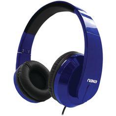 Naxa(R) NE-955 BLUE METRO Foldable Stereo Headphones (Blue)