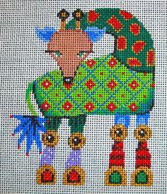 Giraffe - 563 Christmas Ornaments 5x5 18m Patti Mann Designs