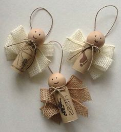 Wine Cork Ornaments - 39 Cork Crafts with which you can . - Wine Cork rod Ornaments 39 Cork Crafts with which you - Wine Craft, Wine Cork Crafts, Wine Bottle Crafts, Wine Bottles, Wine Cork Art, Wine Cork Projects, Bottle Candles, Wine Cork Ornaments, Diy Christmas Ornaments