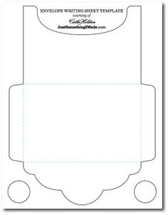 envelope template   All Day DIY