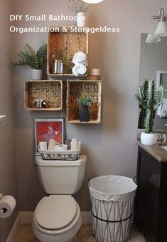 Smart And Easy Bathroom Storage Ideas Simple and rustic decor for the guest bathroom. - Smart And Easy Bathroom Storage Ideas Simple and rustic decor for the guest bathroom. Small Bathroom Storage, Simple Bathroom, Bathroom Shelves, Storage Spaces, Bathroom Cabinets, Storage Organization, Linen Cabinets, Smart Storage, White Bathroom