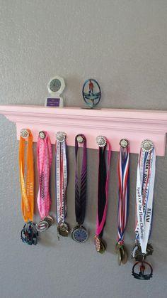 Gymnastics Medal Holder & Trophy Display by BehindTheBarnDoors