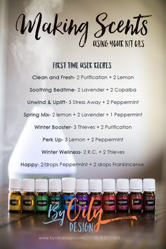 Essential Oil diffuser recipes for the beginning diffuser. Simple diffuser…