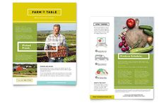 Organic Food Datasheet Template Design by StockLayouts