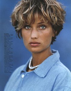 Manon Von Gerkan - Elle (US) January 1994, Blue Moods Photography by Gilles Bensimon