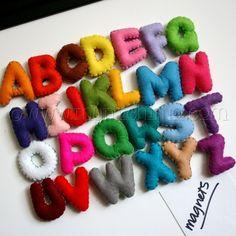 felt alphabet magnets