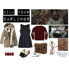 ''Kill Your Darlings'' inspired outfit. by fashionvictim95 on Polyvore featuring A.P.C., Tom Ford, Essie and TOMS