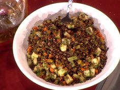 "Padma Lakshmi's Pondicherry Lentil Salad ........... This VEGAN recipe looked amazing -- Padma uses it to ""Detox"" after all the rich food she eats on TOP CHEF!"