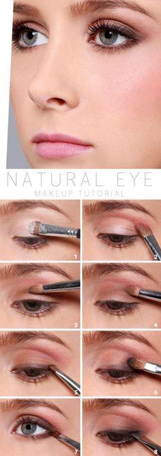 Natural Eye Makeup Tutorial for Deep Set eyes... once again make sure u apply lots of mascara or a false eyelash to bring out the eye. -Sheenz