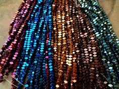 Electroplated Hematite, 4x5mm, Faceted Rectangle, 8 Inch Strands by DragonflyBeadsStudio on Etsy