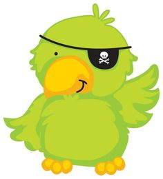 Pirate with a parrot on his shoulder. Pirate Birthday, Pirate Theme, Pirate Decor, Pirate Talk, Pirate Quilt, Pirate Clip Art, Pirate Parrot, Pirate Treasure Maps, Pirate Boats