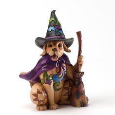 Jim Shore for Enesco Heartwood Creek Pint Sized Halloween Dog Figurine 5.25-Inch