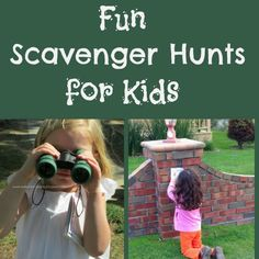 Follow @FantasticFunAndLearning  for some educational scavenger hunt ideas for kids!