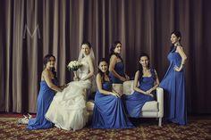 Her entourage. Photo by Metrophoto. Wedding Bridesmaids, Bridesmaid Dresses, Wedding Dresses, Wedding Themes, Wedding Photos, Fall Wedding, Dream Wedding, Entourage, Composition