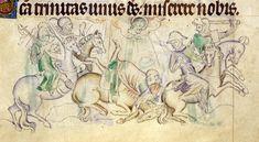 .:. Miniatura tratta dal 'Salterio della regina Maria' (1310-1320), British Library