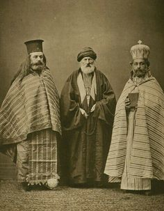 Greek & Armenian Priest + Turckish Mullach - 19th century