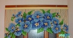 30 Pretty Crochet Window Curtain Ideas for Your Interior Design Beaded Door Curtains, Crystal Curtains, Crochet Curtains, Diy Curtains, Arched Window Coverings, Window Treatments, Turquoise Curtains, Door Hanging Decorations, Beaded Banners