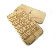 Baby toy teethe modern teether personalized play phone wood toy geek smartphone
