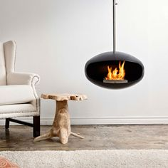 Cocoon Aeris Fireplace Black now featured on Fab.