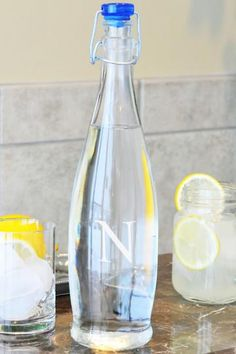 Monogram Decanter Water Bottle - Monogrammed Decanters - Barware - Home Accents - Home Decor | HomeDecorators.com