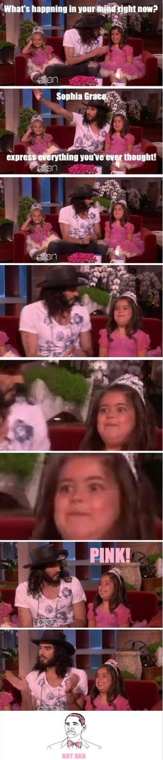 Sophia Grace and Russel Brand, two of my favorite people xD hahaha