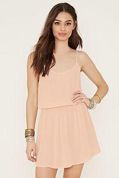 Crinkled Crepe Cami Dress