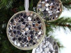 DIY Ornaments Mason Jar Lid