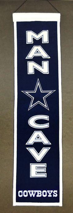 Dallas Cowboys Wool Man Cave Banner