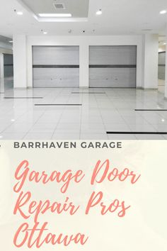 Garage Door Stuck or Won't Open? Don't Worry, Our Team Is Standing By To Help You. Garage Door Cable, Garage Door Repair, Garage Doors, Tile Floor, Ontario, Outdoor Decor, Home Decor, Decoration Home, Room Decor