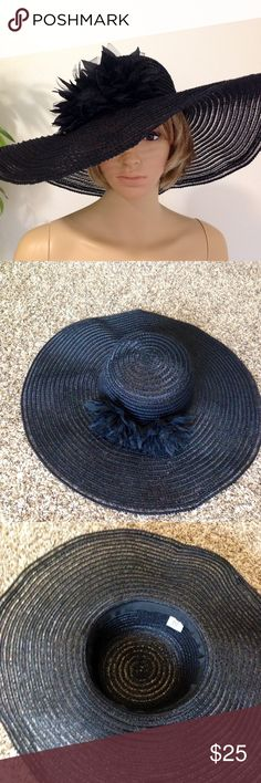 Black Oversized Elegant Hat Brand new without tags black oversized hat by SS Something Special.  No Trades Anthropologie Accessories Hats