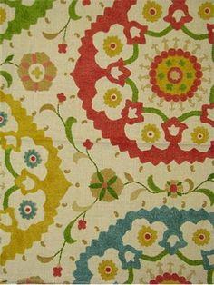 Suzani print  fabric mutil color.