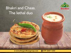 Bhakri and Chaas Gujarati Thali, Food Banner, Indian Snacks, Banner Design, Fruit