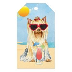 Summer Yorkie Gift Tags   cute pugs, pug crochet, cutest pugs #pugmug #pug #pugs Pug Jokes, Pug Mug, Cute Pugs, Dog Recipes, Yorkshire Terrier, All Dogs, Yorkie, Dog Days, Gifts For Dad