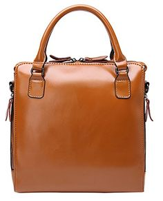 Generic Women's Big Size Brown Leather Handbag Large *** Learn more by visiting the image link.