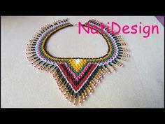 YouTube Lace Necklace, Collar Necklace, Handmade Beads, Handmade Jewelry, Diy Jewelry Inspiration, Necklace Tutorial, Beaded Collar, Beading Tutorials, Bead Art