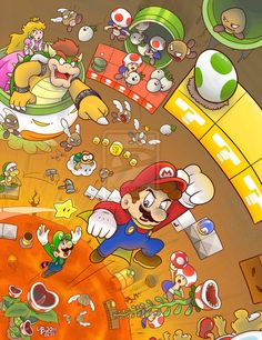 Super Mario Brothers fanart by http://thebourgyman.deviantart.com/