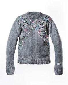 96639782b0 STEINUM Striktrøje med perler Crochet For Kids