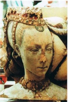 Effigy of Joan Nevill, married William Fitzalan earl of Arundel. d.1462