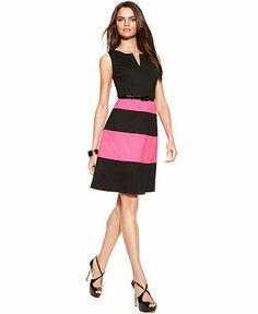 e5bafc885b INC International Concepts Sleeveless Striped A-Line Dress Women - Dresses  - Macy s