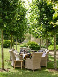 Bramblecrest Garden Furniture Kuta Rectangle Table with 8 Oakridge Chairs Oakridge Teak Outdoor Dining, Outdoor Spaces, Outdoor Decor, Garden Furniture, Outdoor Furniture Sets, High Back Armchair, Teak Table, Rectangle Table, Replacement Canopy