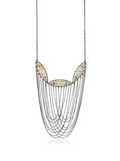 Courtney Kaye Annex Filigree Statement Necklace, Gold/Hematite at MYHABIT