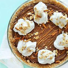 Pretzel Peanut Butter Chocolate Pie