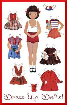 des petites poupées en papier à habiller !!!