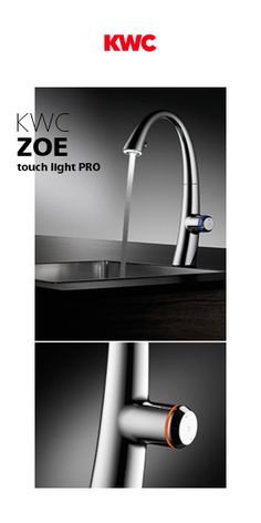 KWC ZOE TOUCH LIGHT PRO ELECTRONIC CONTROLLED, COVERED PULL-OUT SPRAY - Designer Wash-basin taps from KWC ✓ all information ✓ high-resolution images..