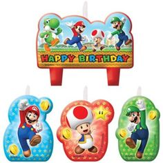 Your cake looks super with our Super Mario Birthday Candles. Each Mario candle features Mario and friends, a great addition to your Super Mario cake decorations. Super Mario Bros, Super Mario Party, Super Mario Brothers, Mario Birthday Cake, Super Mario Birthday, Birthday Games, Boy Birthday, Birthday Ideas, Mario Cake