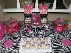2014 Graduation Party Ideas | Hot Pink Zebra Pool Party / Graduation/End of School / Party Photo: