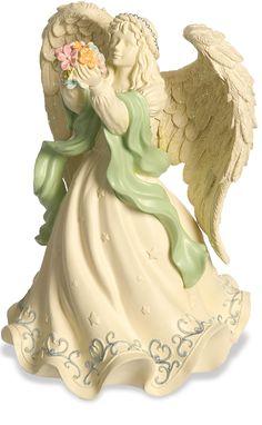 AngelStar Radiance Rose Angel Bell Figurine