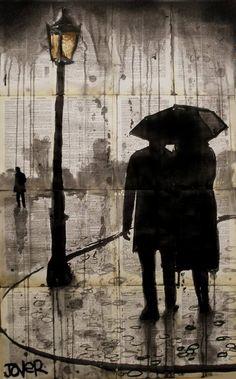 Loui Jover  -  Art Drawing - Raindrops