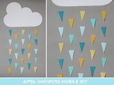april showers mobile diy