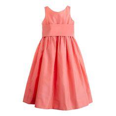 Girls' silk taffeta Gillian dress - ideas for Maura. Coral Flower Girl Dresses, Girls Dresses, Summer Dresses, Flower Girls, Taffeta Dress, Silk Taffeta, Special Occasion Dresses, Girl Fashion, Young Fashion